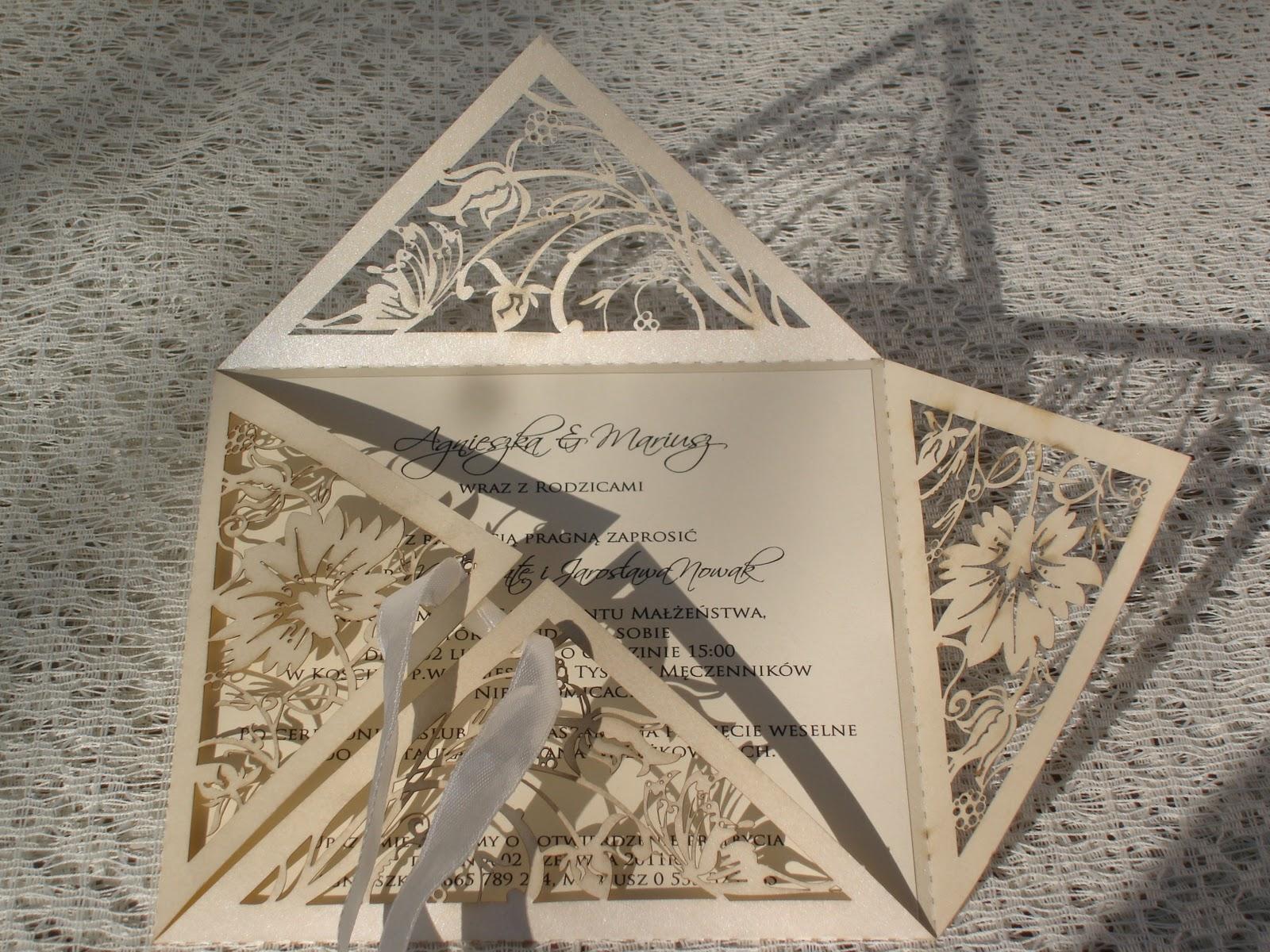 Nowości W La Memoire Ażurowe Zaproszenia ślubne La Mémoire By
