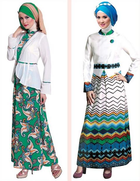 Baju Gamis Muslim Brokat Batik Terbaru