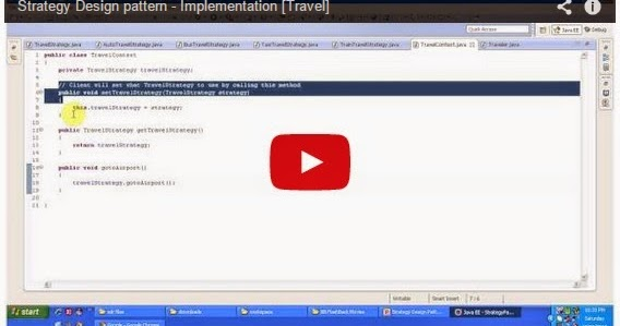Java ee strategy design pattern implementation travel for Object pool design pattern java example