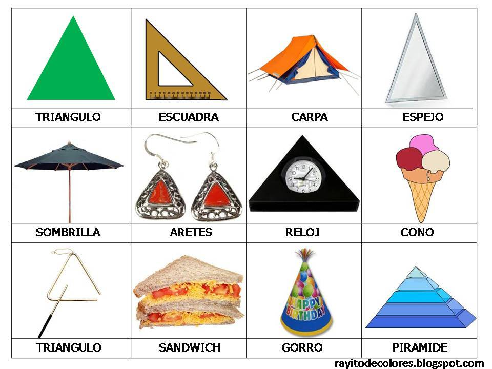 Objetos de forma de triángulo
