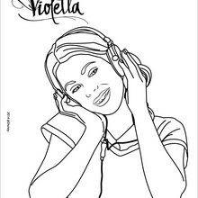 Dibujos de Violetta para Colorear