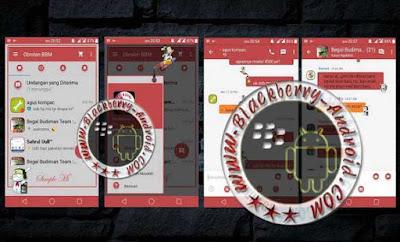 BBM Mod Themes Simple MI RED Terbaru Versi 2.9.0.44 Apk