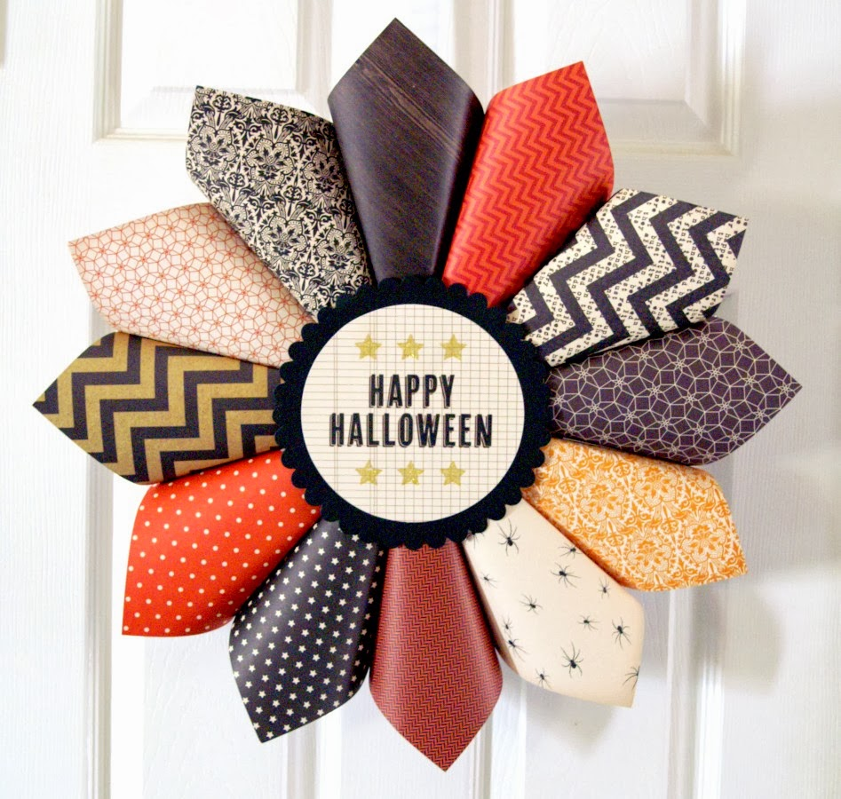 Download image Halloween Paper Wreath Craft PC, Android, iPhone and ...: www.thefotoartist.com/halloween-paper-wreath-craft.html