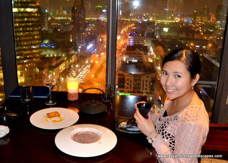 Lady at Kris with a View restaurant at Park Regis Dubai