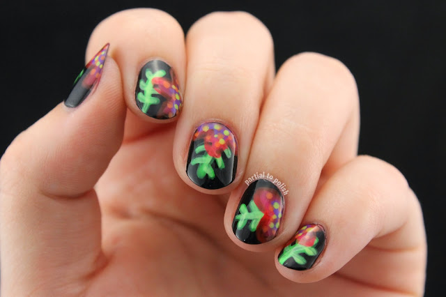 Ferns & Flowers Inspired by Wondrously Polished Using the Girly Bits Hoop! There It Is Collection