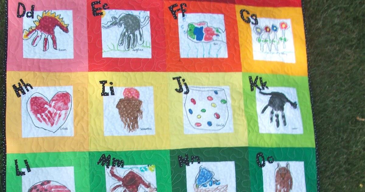 Quilt Patterns For Kindergarten : The Kindergarten Teacher: The Kindergarten Handprint Quilt 2012