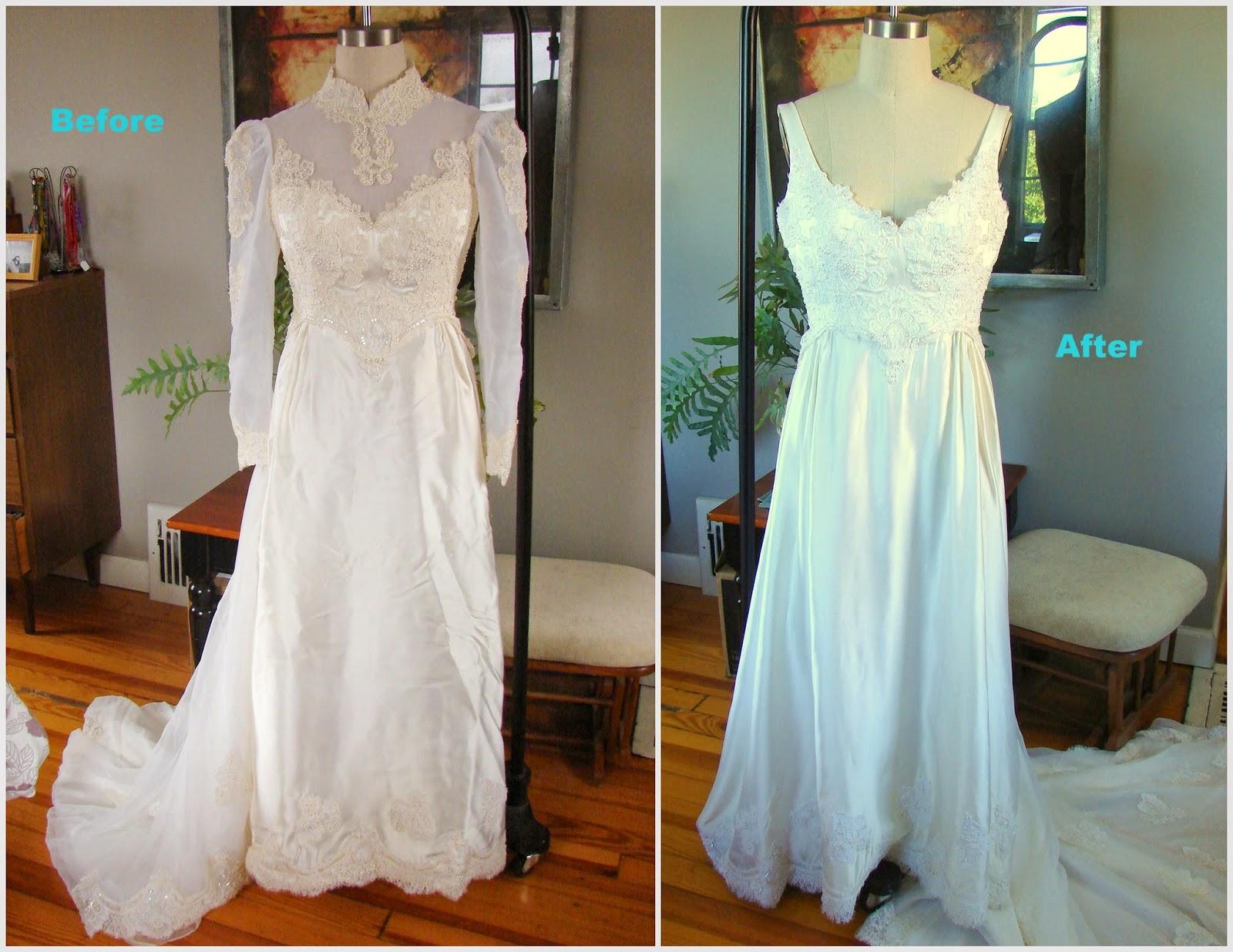 Refashion: Wedding Dress 1970-something to Wedding Dress 2014 ...