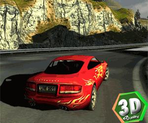 3d Kırmızı Araba Yarışı