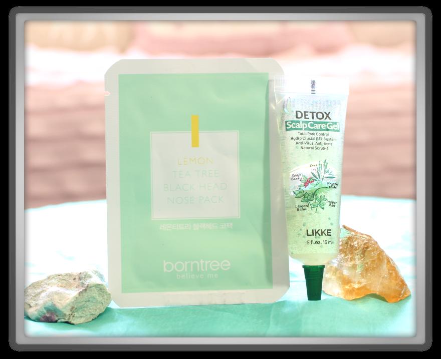 겟잇뷰티박스 by 미미박스 memebox beautybox Superbox #38 Detox Care unboxing review box borntree lemon tea tree nose pack likke scalp care gel