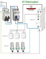instalación con telerruptor
