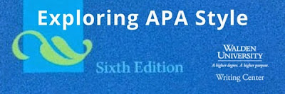 Exploring APA Style on the Walden University Writing Center Blog