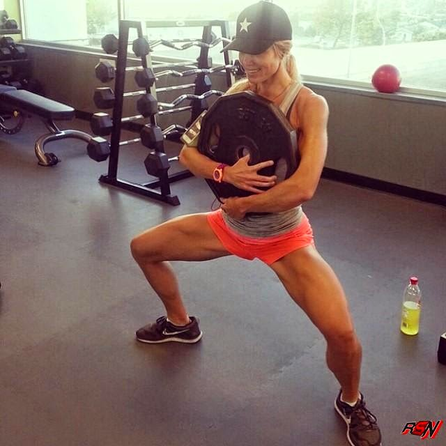 Torrie Wilson Working Out.