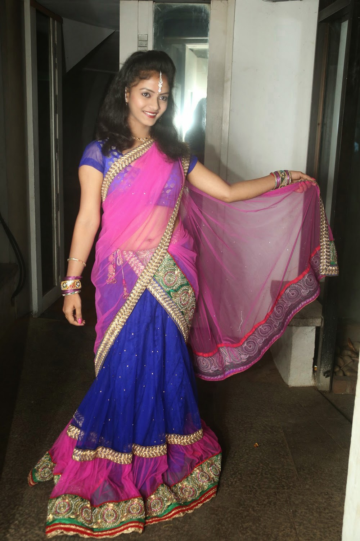 Young actress Jaya Harika in half saree-HQ-Photo-19