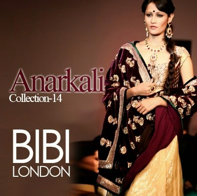 BIBI Latest Anarkali dresses collection 2014