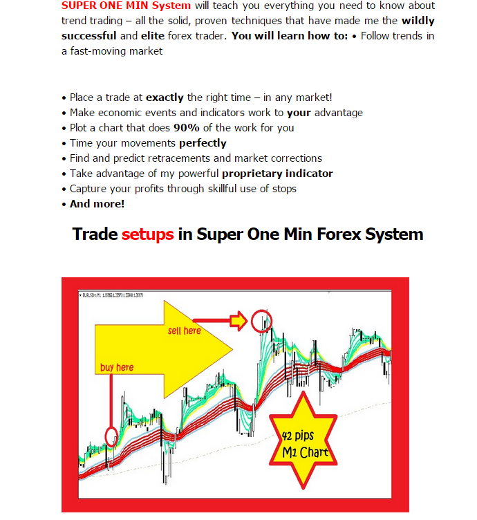 Super one minute forex system