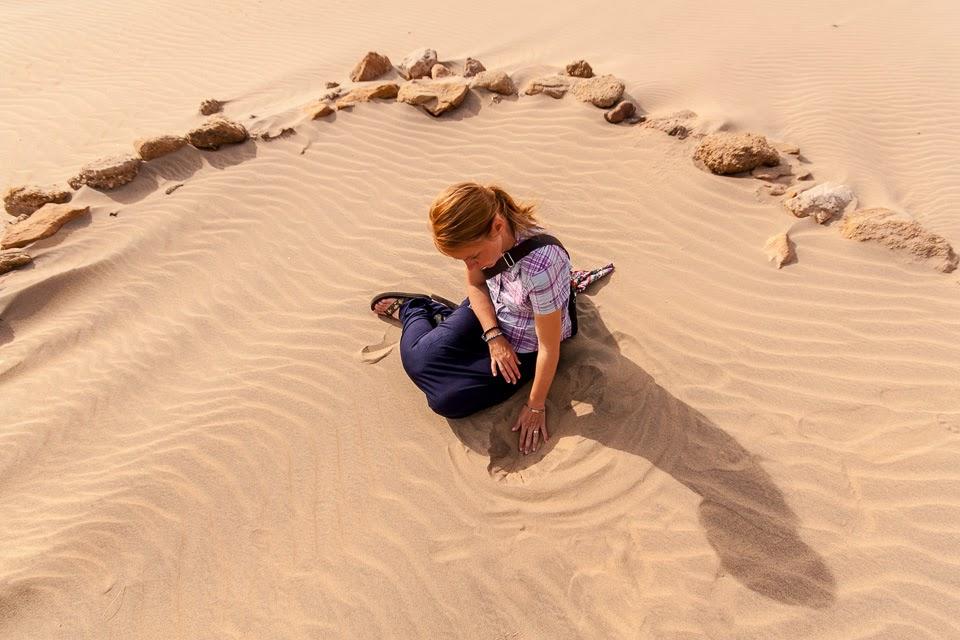 Núri sivatagi homokjában