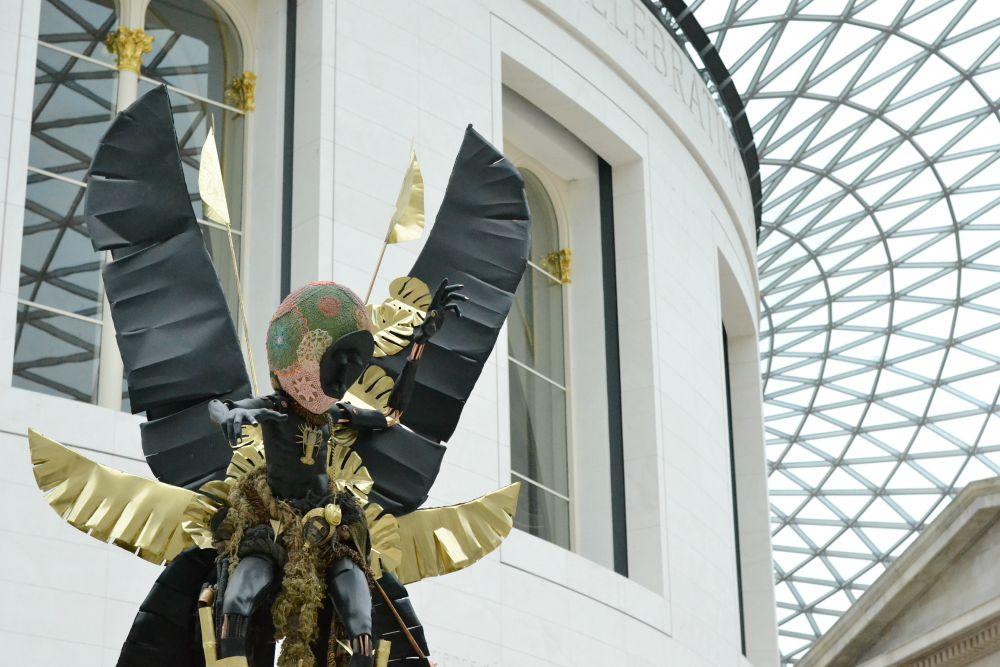 british museum london foyer roof statue