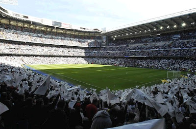 A full Santiago Bernabeu Stadium