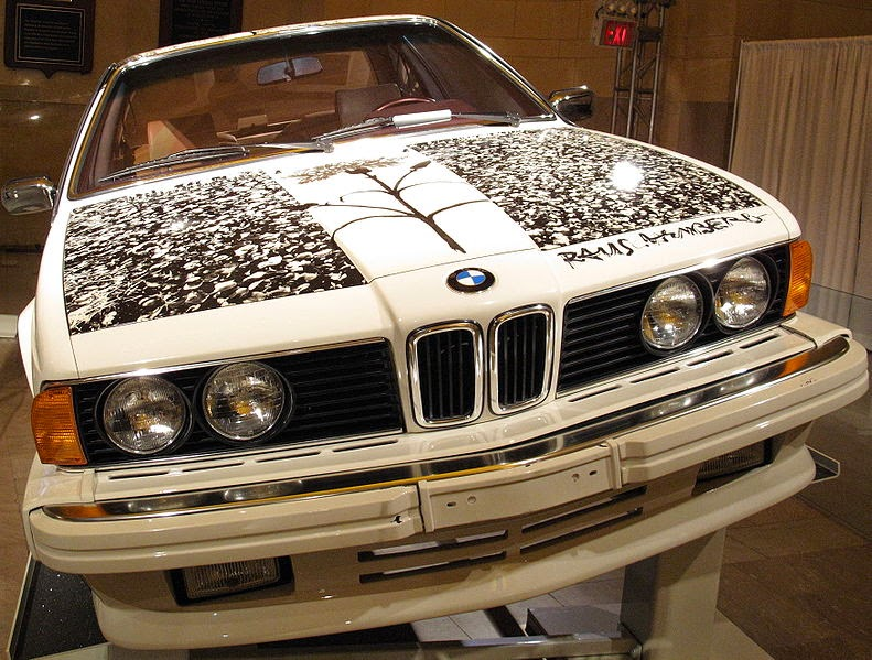 1985 BMW 635CSi painted by Robert Rauschenberg, Author Davidwiz