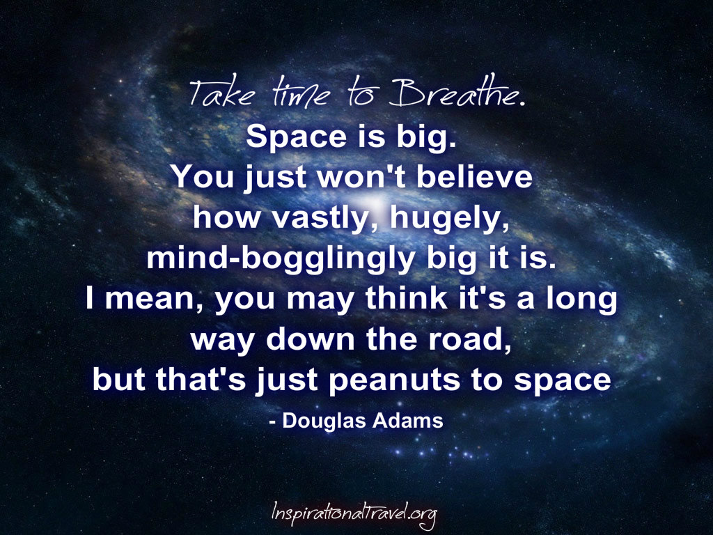 Quote Douglas Adams Space