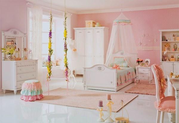 Dormitorios para ni as tema princesas dormitorios - Habitacion dos ninas ...