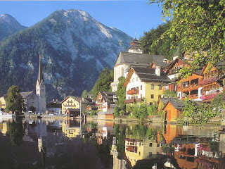A stock picture of Hallstatt in Austria - note the glassy Hallstattsee