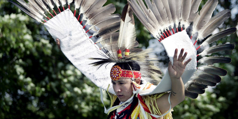 White Wolf Significance Of The Eagle Feather Native Headdress