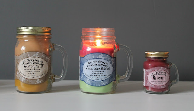Our Own Candle Company - Mmm Melons, Smell My Nuts, Mulberry Review