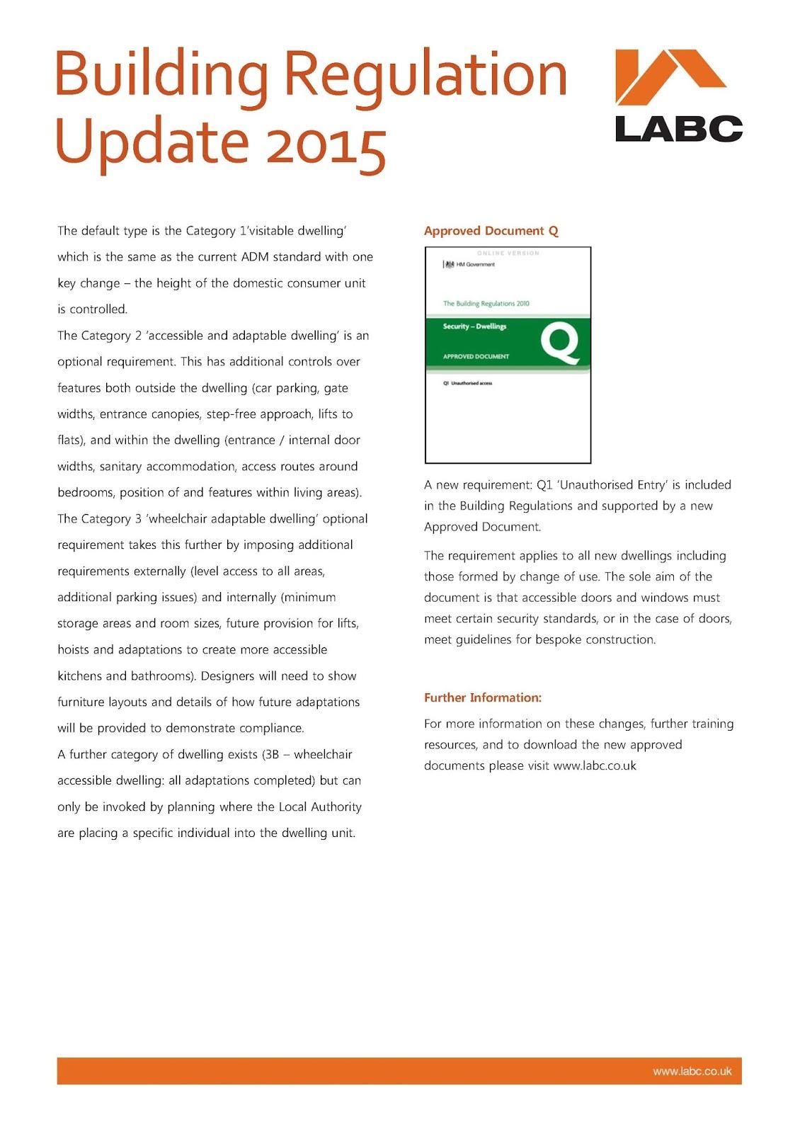 2015 building regulations update cb3 design architects for Office design regulations uk