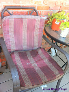 Lovely Outdoor cushions are expensive After pricing them out we might as well bought a whole new patio set I found a piece set at Home Depot for each