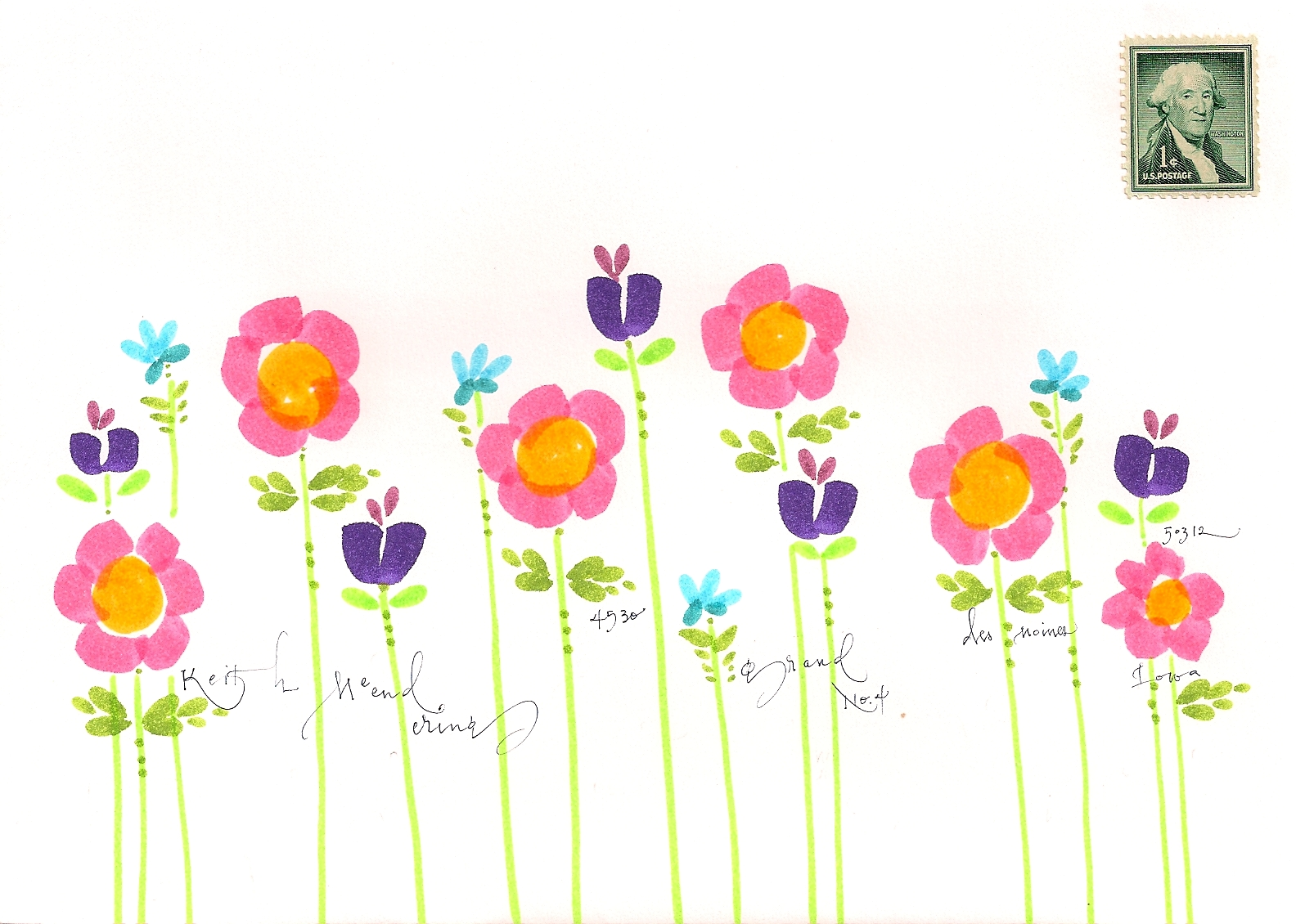 clipart line flower - photo #34