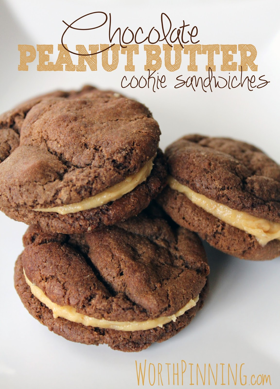 Worth Pinning: Chocolate Peanut Butter Cookie Sandwiches