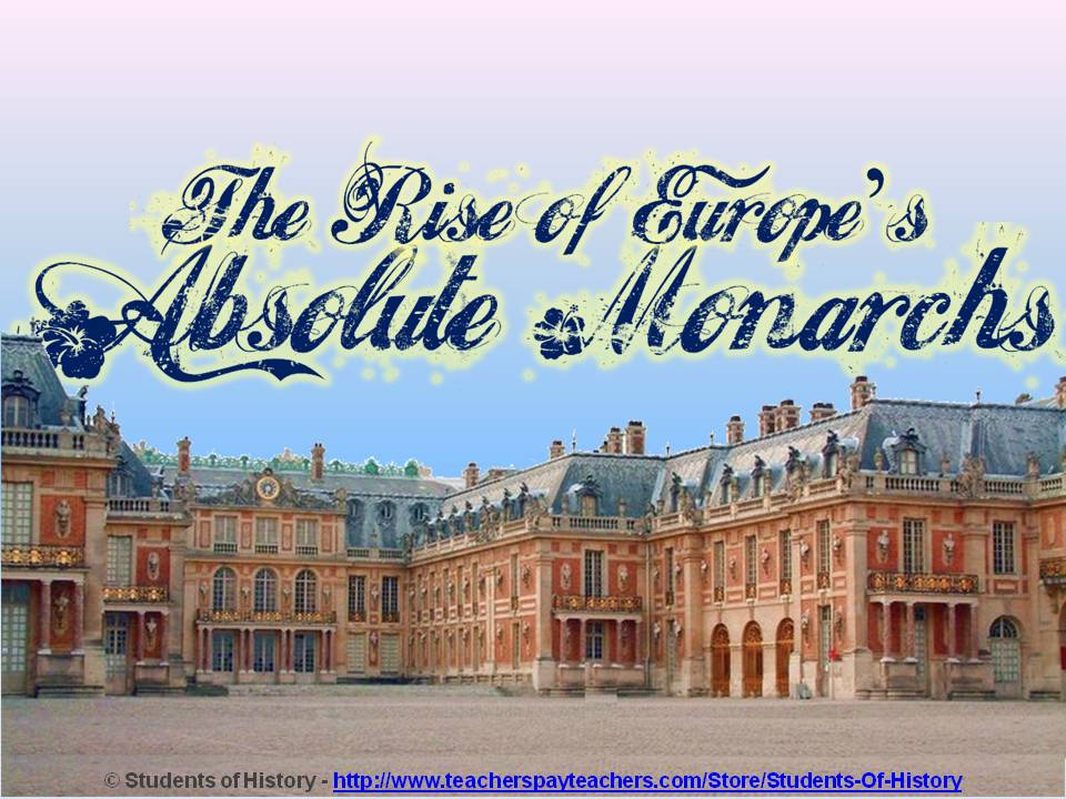 students of history rise of absolute monarchs pop up figure lesson plan