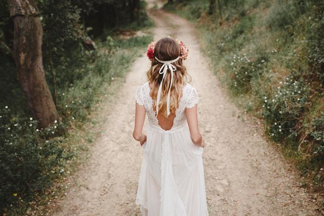 en el boda para bosque novia de vestidos qxwxctpx