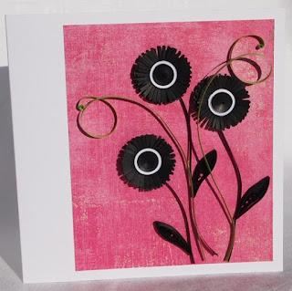 Black fringed flowers