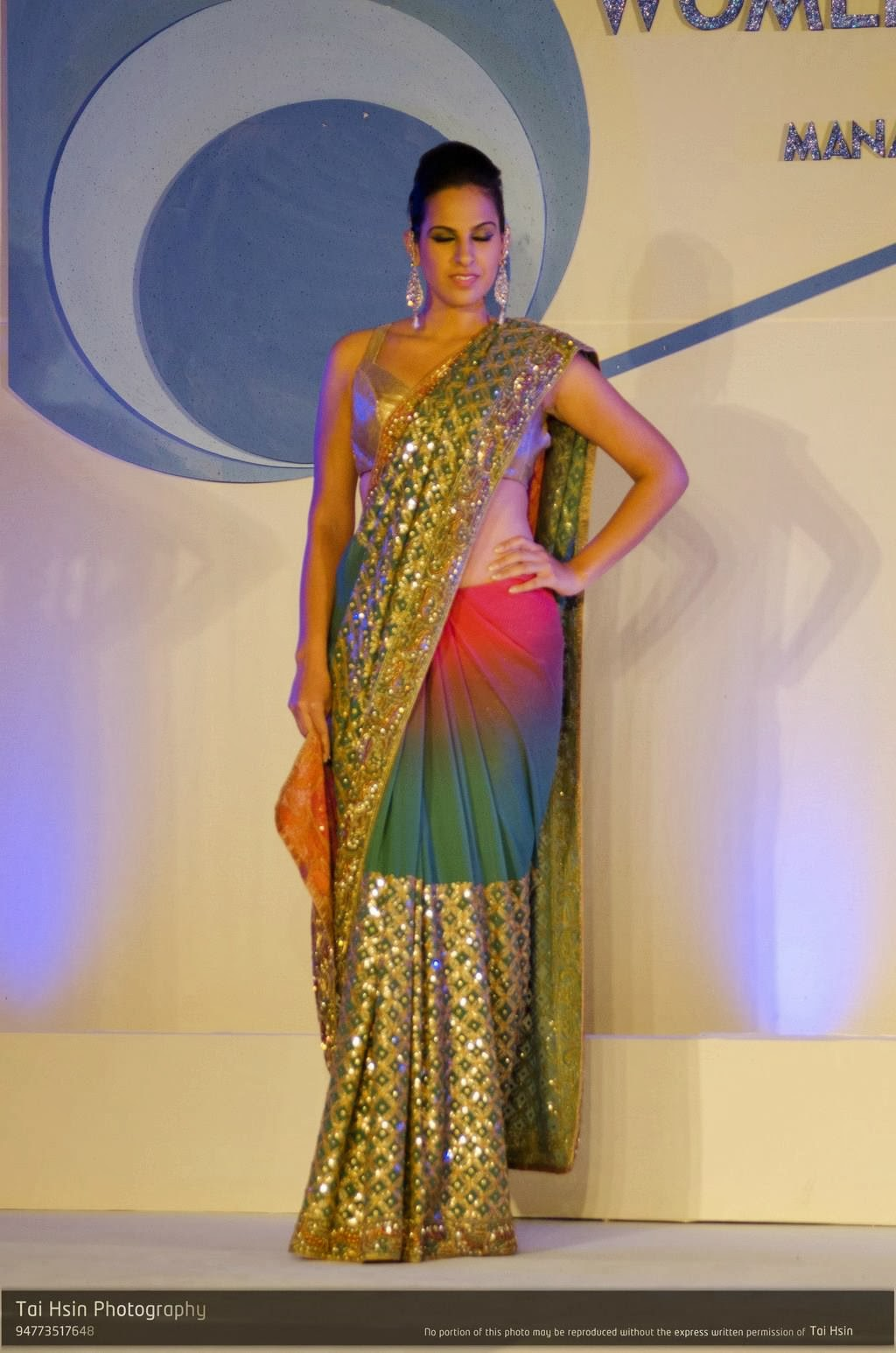 Stephanie Siriwardhane saree