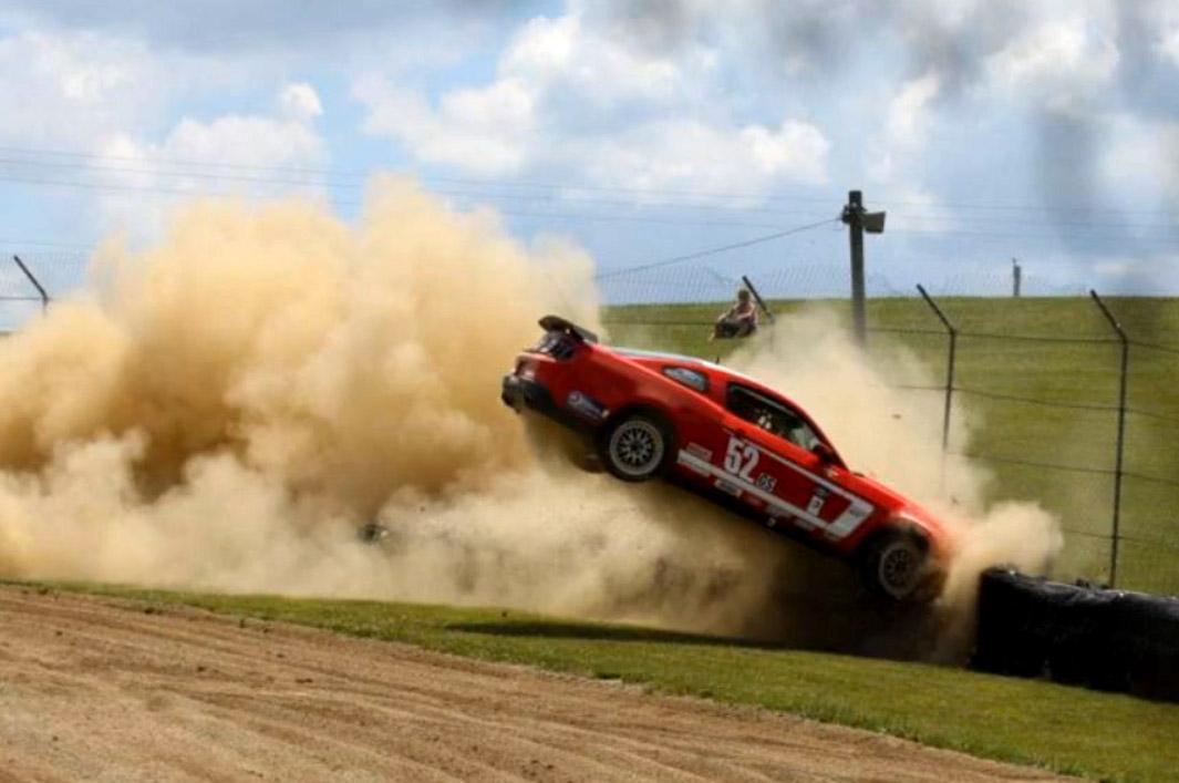 Rehagen Racing Mustang Boss 302R suffers massive crash at Mid Ohio ...