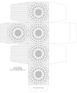 Mandala box to print, color and make
