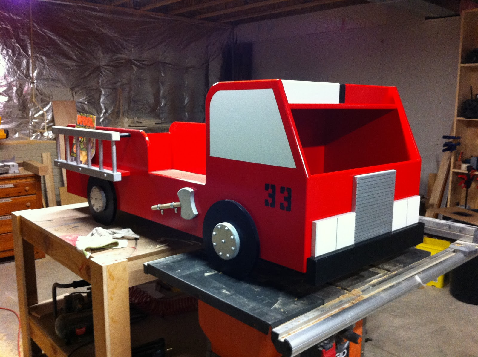 Fire truck toy box plans fire free engine image for user manual download - Fire engine bed plans ...