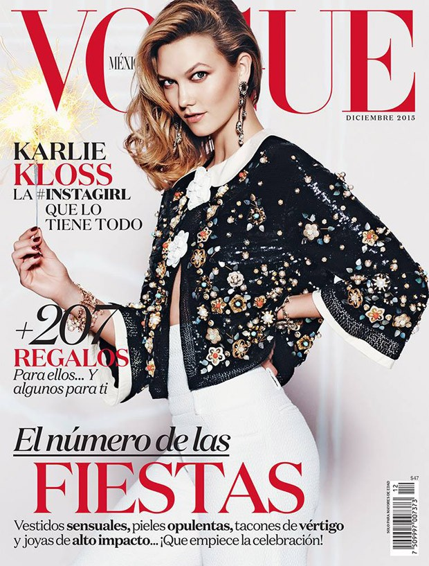 Karlie Kloss shows pert derrière for Vogue Mexico December 2015
