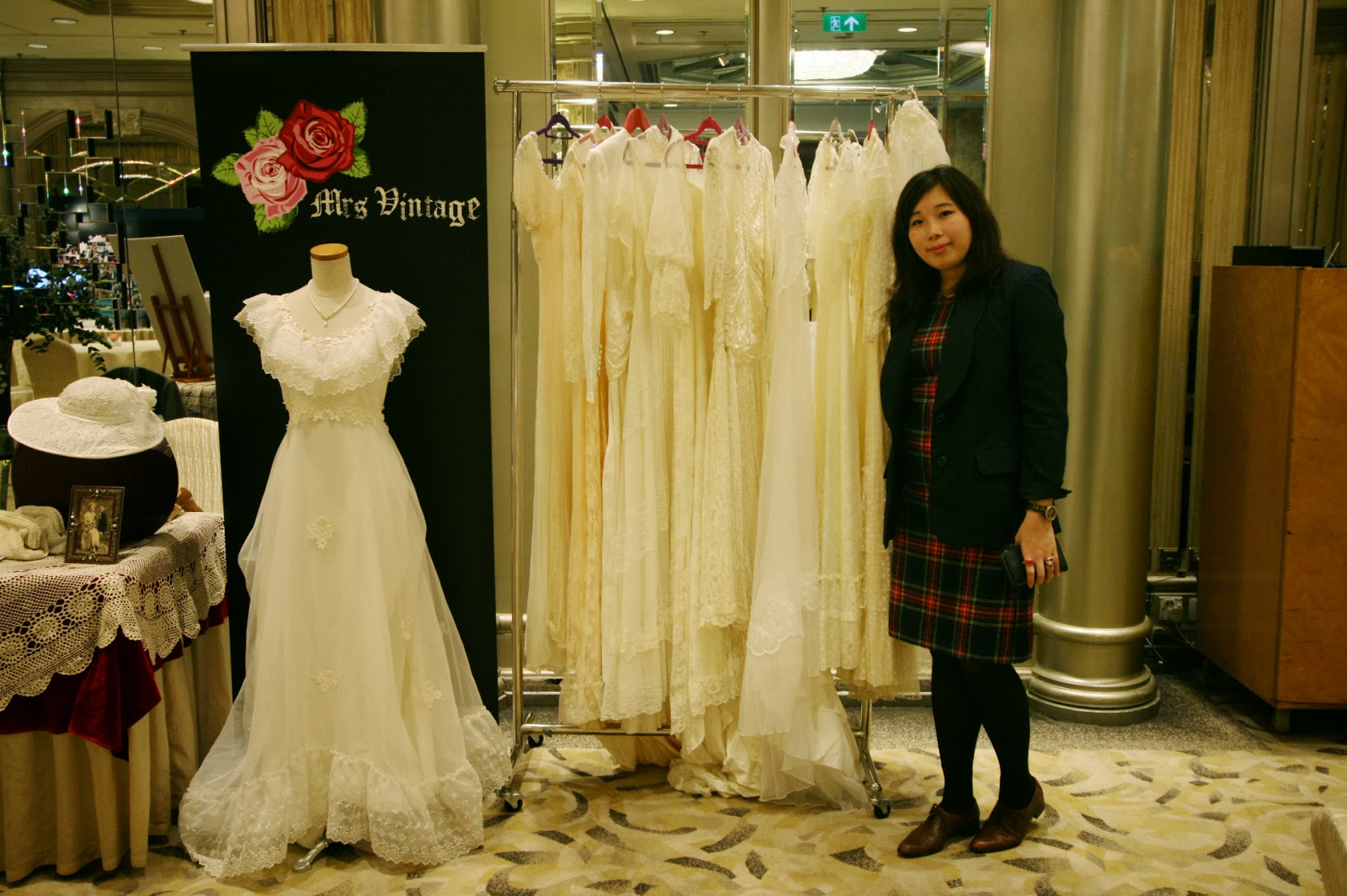 On 11 12 Jan 2014 I Have Joined Again The In House Wedding Fair At Regal Hongkong Hotel Showcasing Our New Vintage Gowns And Accessories