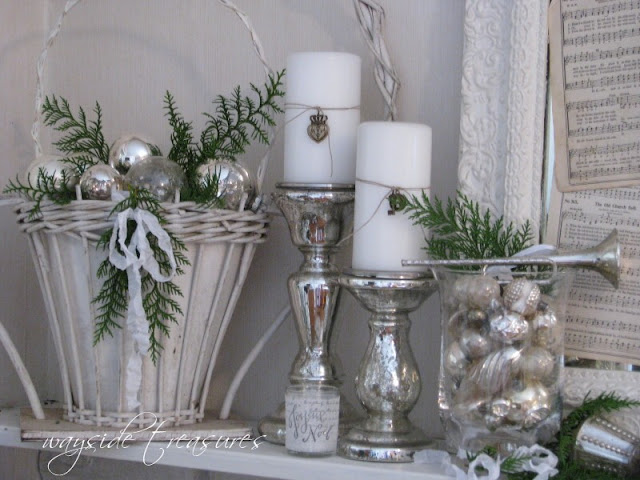Mercury glasses silver christmas christmas decor ideas green white christmas holidays decor - Silver and white christmas ...