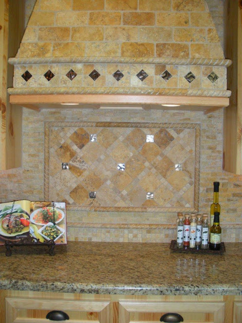 Countertops Backsplash Flooring Shower Wall Country Style Kitchen