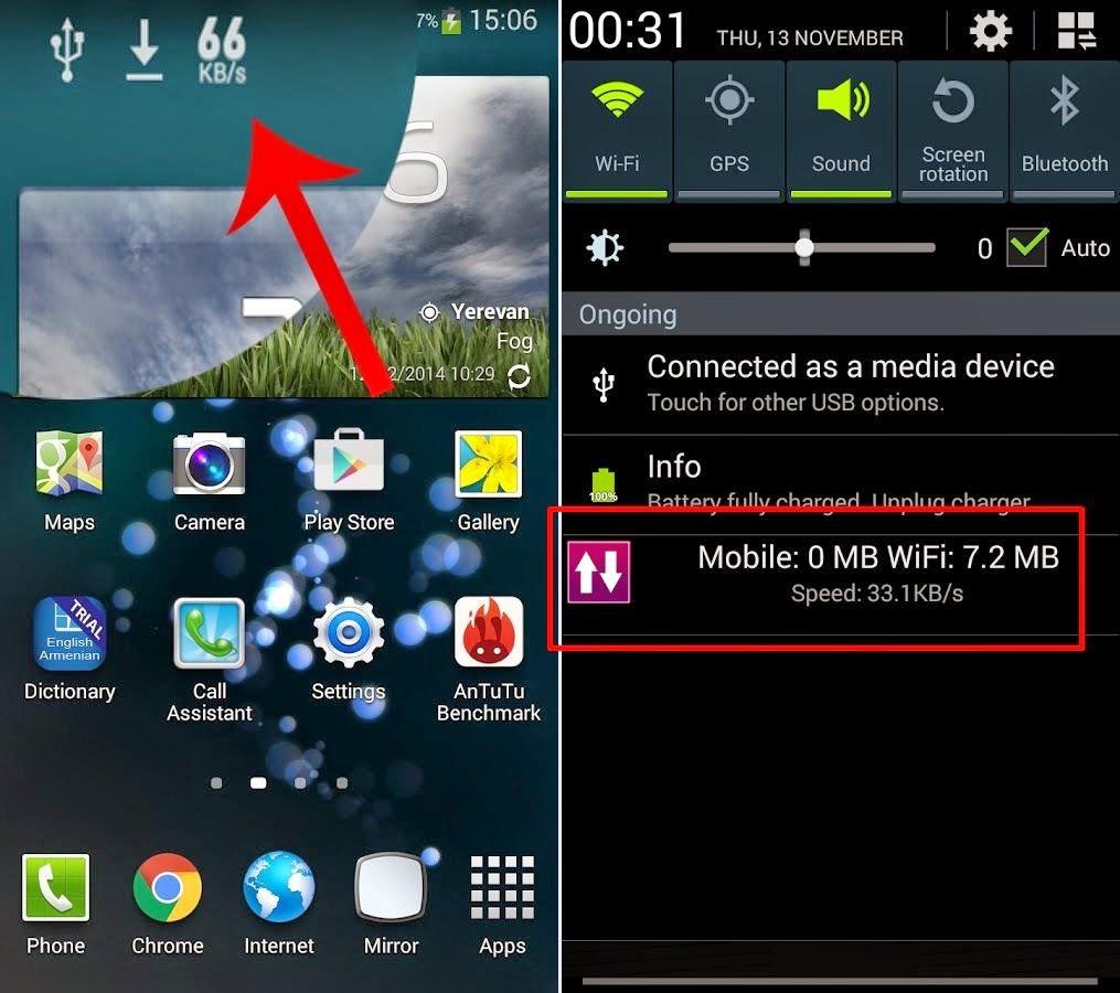 Cara Mudah Mengetahui/menampilkan Kecepatan Internet di Android