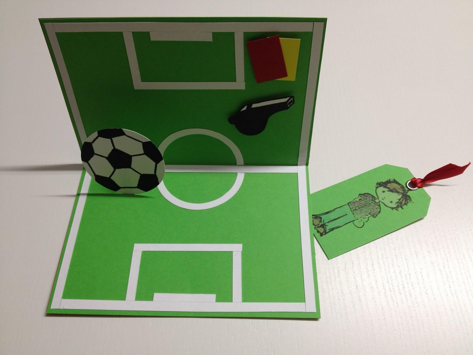 """Scrap i Pebre: Tarjeta sencilla """"Cumpleaños fútbol"""""""