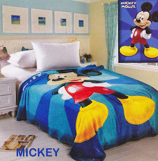 Selimut Sutra Panel Belladona Mickey