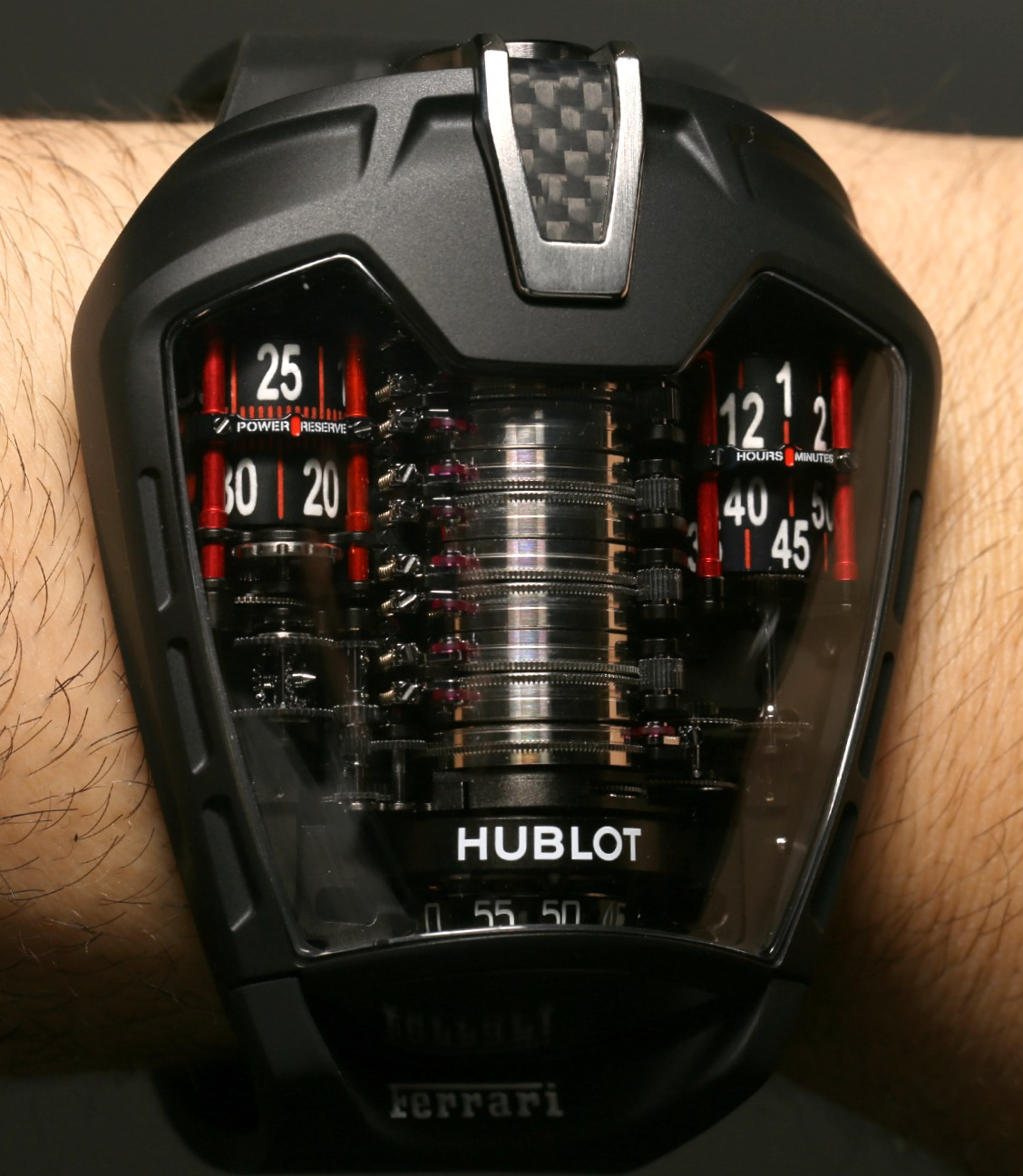 Hublot Masterpiece MP-05 LaFerrari Watch (Hublot Masterpiece MP-05 LaFerrari  Price to Be announced) Hublot Masterpiece MP-05 LaFerrari Watch is a feat of engineering worthy of the venerable race car company's flagship. It's main claim to fame is a 50-day power reserve