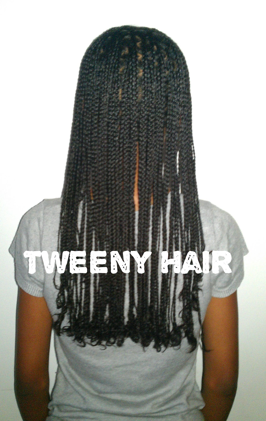 Box Braids with Straight Ends