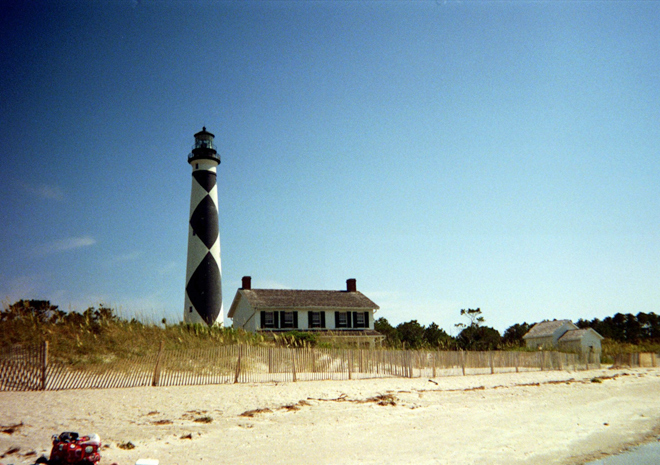 Cape Lookout Lighthouse, sound side