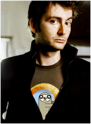 David Tennant - Bradi Pit T-Shirt